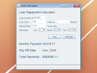 Loan Calculator Program